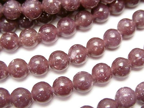 1strand $14.99! Lepidolite AAA Round 6mm 1strand (aprx.15inch/38cm)