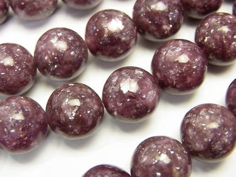 Lepidolite AAA Round 12mm 1/4 or 1strand (aprx.15inch/38cm)
