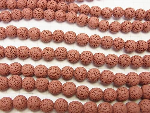 1strand $3.79! Red color Lava Round 6, 8, 10, 12 mm 1strand (aprx.15inch / 36 cm)