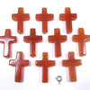Carnelian AAA Cross 30x20x6 (Half Drilled Hole) 1pc