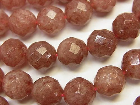 Moscovite  64Faceted Round 10mm half or 1strand (aprx.15inch/38cm)
