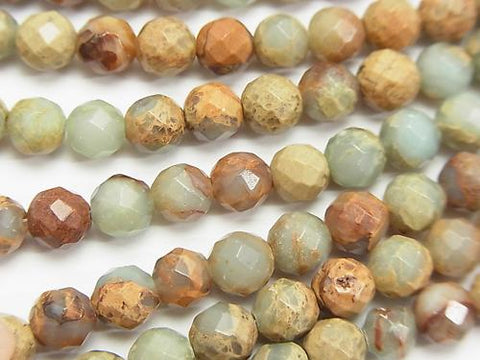 1strand $8.79! Impression Stone  64Faceted Round 6mm 1strand (aprx.15inch/36cm)