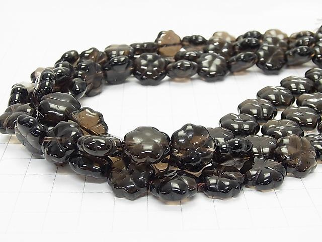 Smoky Crystal Quartz AAA Clover 14x14x5mm  1/4 or strand (aprx.15inch/38cm)