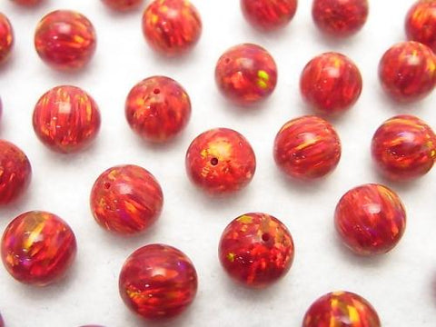 Kyoto Opal Round 8 mm [Red] Drilled Hole 1pc $6.79!