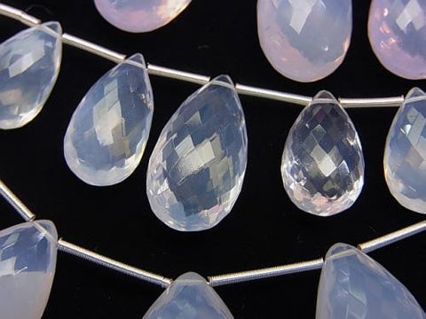 MicroCut!  High Quality Scorolite AAA Pear shape  Faceted Briolette  1pc $23.99!