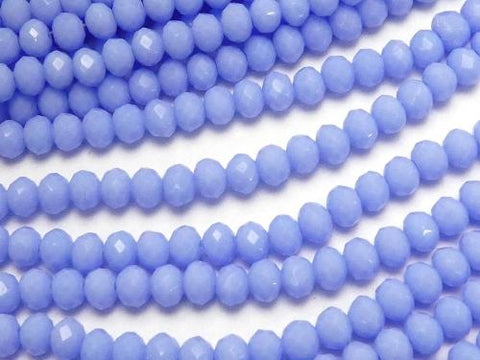 1strand $1.79! Glass Beads  Faceted Button Roundel 3x3x3mm Blue NO.3 1strand (aprx.13inch / 32cm)