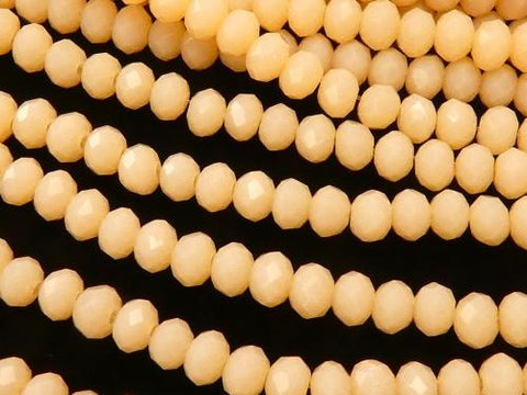 1strand $1.79! Glass Beads  Faceted Button Roundel 3x3x2mm Orange Beige 1strand (aprx.15inch / 37cm)