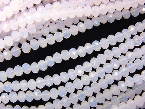 1strand $2.19! Glass Beads  Faceted Button Roundel 3 x 3 x 2 mm Baby Pink 1 strand (aprx.15 inch / 36 cm)