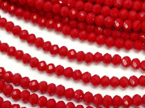 1strand $1.79! Glass Beads  Faceted Button Roundel 3x3x2mm Red 1strand (aprx.15inch / 36cm)