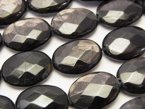 Hypersthene AAA- Faceted Oval 18x13x5mm half or 1strand (aprx.15inch/38cm)