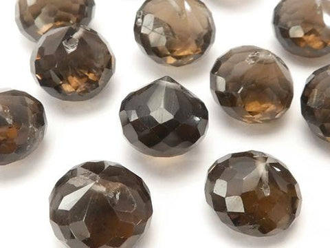High Quality Smoky Crystal Quartz AAA- Onion  Faceted Briolette  8pcs $24.99!