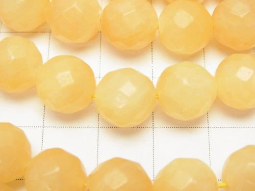 1strand $9.79! Yellow Jade 64Faceted Round 10mm 1strand (aprx.15inch / 37cm)