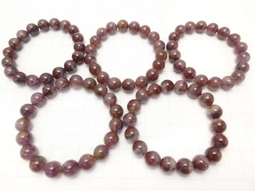 1strand $34.99! Red Amethyst (Party Color Amethyst) AA + Round 11 mm 1strand (Bracelet)