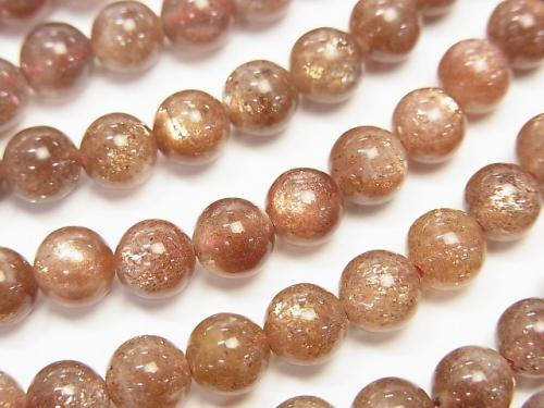 Sun Stone AA++ Round 6mm 1/4 or 1strand (aprx.15inch/38cm)