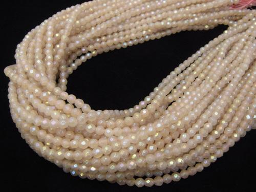 1strand $8.79! Flash, Rose Quartz 32 Faceted Round 4 mm 1strand (aprx.15 inch / 38 cm)