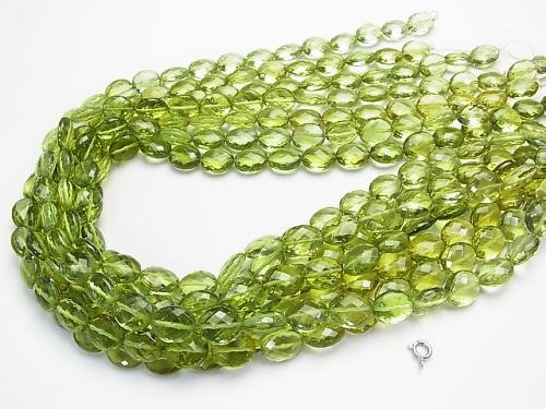 High Quality Green Amber AAA Faceted Oval 12 x 10 x 5 mm 1/4 or 1strand (apr x 16 inch / 39 cm)