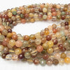 Multicolor Rutilated Quartz AA ++ 128 Faceted Round 8 mm half or 1 strand (aprx.15 inch / 38 cm)