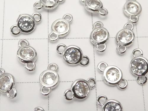 Metal Parts Charm with CZBrilliant Cut Both Side 7 x 4 x 2 mm Silver Color 5 pcs $2.99!