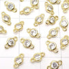 Metal Parts Charm with CZBrilliant Cut Both Side 7 x 4 x 2 mm Gold Color 5 pcs $2.99