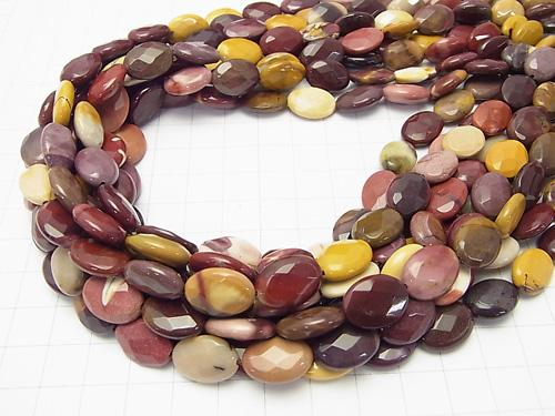 Moore kite Faceted Oval 14 x 10 x 5 half or 1 strand (apr x 15 inch / 38 cm)