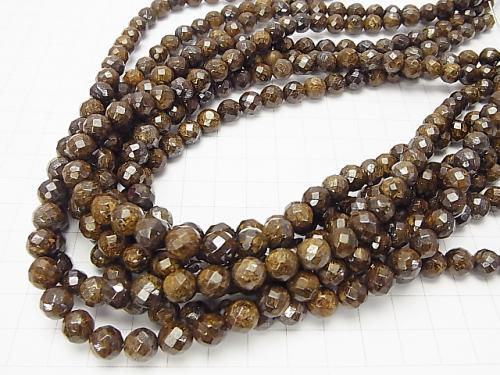 1strand $9.79! Bronzite  64Faceted Round 8mm 1strand (aprx.15inch/38cm)