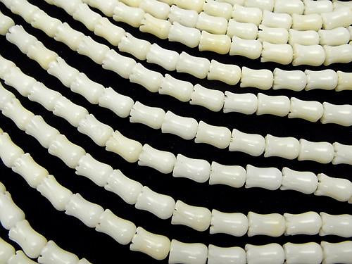 1strand $9.79! White Coral Flower 8x5x5mm 1strand (aprx.15inch / 38cm)