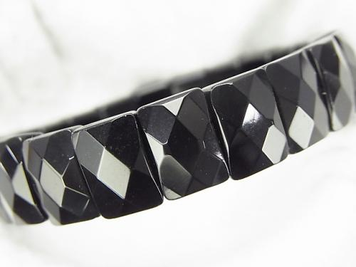 1strand $13.99! Onyx AAA 2 holes Faceted Rectangle 12 x 8 x 6 mm 1strand (Bracelet)