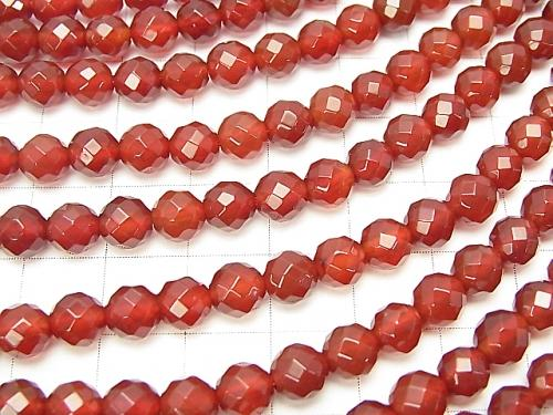 1strand $7.79! Red Agate AAA 64Faceted Round 6mm 1strand (aprx.15inch / 38cm)
