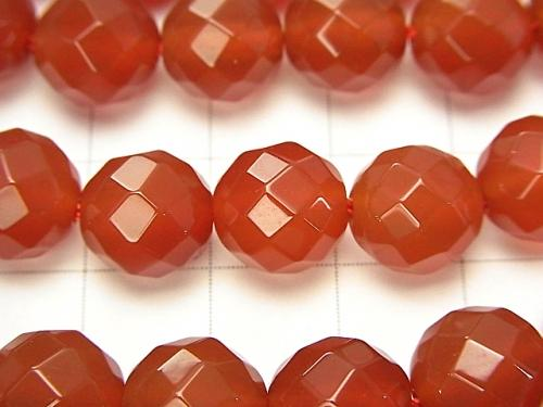 1strand $9.79! Red Agate AAA 64 Faceted Round 10 mm 1strand (aprx.15 inch / 37 cm)
