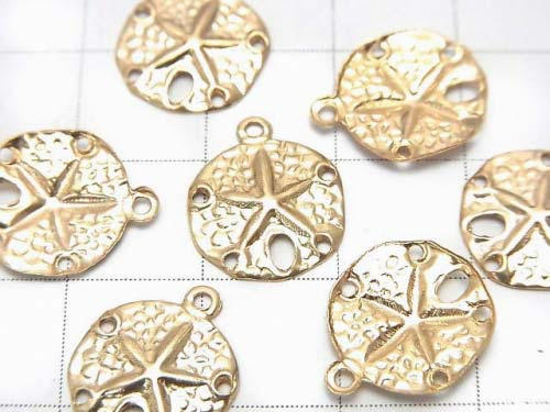 14KGF Charm Sand Dollar 13x11 1pc $2.39!