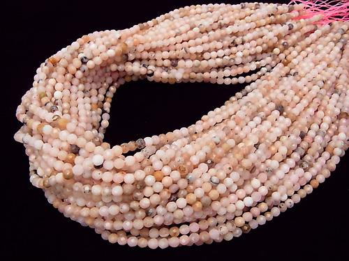 1strand $13.99! Pink Opal AA 32 Faceted Round 4 mm 1strand (aprx.15 inch / 38 cm)