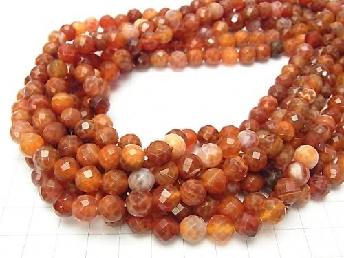 1strand $11.79! Fire Agate 64 Faceted Round 8 mm 1strand (aprx.15 inch / 38 cm)