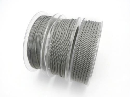 1 m $1.49 Twist Cord [1 mm] [2 mm] [3 mm] gray