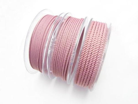 1 m $1.49 Twisted Cord [1 mm] [2 mm] [3 mm] pink