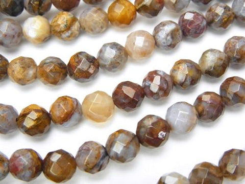 Pietersite  64Faceted Round 6mm half or 1strand (aprx.15inch/38cm)