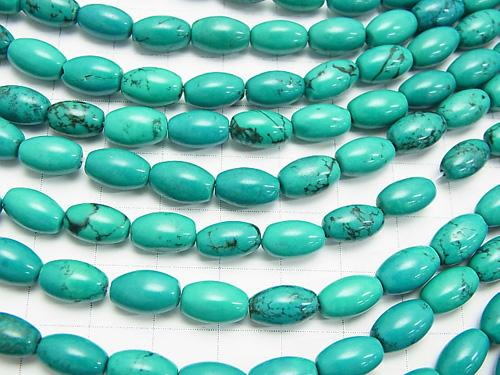1strand $4.79! Magnesite Turquoise  Rice 10x6x6mm 1strand (aprx.15inch/36cm)