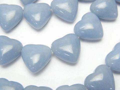 Angelite AAA Heart 12 x 12 x 7 mm half or 1 strand (aprx.15 inch / 38 cm)