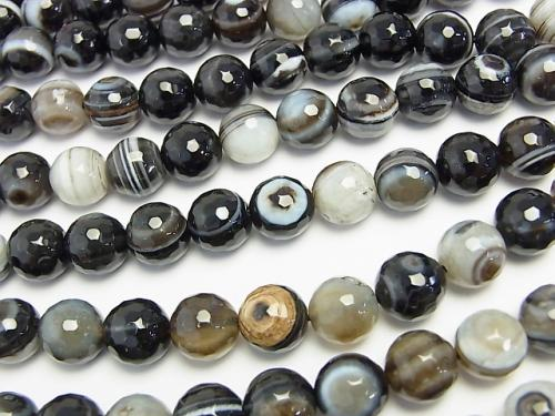 1strand $9.79! Tibetan Agate 128 Faceted Round 10 mm 1strand (aprx.15 inch / 37 cm)