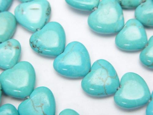 1strand $5.79! Magnesite Turquoise Vertical Hole Heart 9x10x4mm 1strand (aprx.15inch / 38cm)