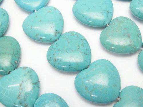 1strand $7.79! Magnesite Turquoise Vertical Hole Heart 19 x 20 x 6 mm 1strand (aprx.15 inch / 36 cm)
