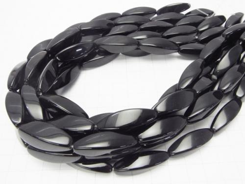 Onyx  Rice 4Faceted Faceted Twist 30x10x10mm half or 1strand (aprx.15inch/37cm)