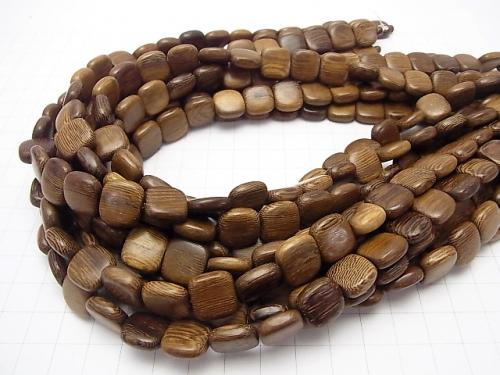 1strand $3.79! Wood Beads  Square 12x12x5mm 1strand (aprx.15inch/38cm)