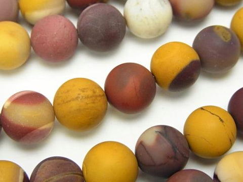 1strand $8.79! Frost Mookaite Round 10mm 1strand (aprx.15inch / 37cm)