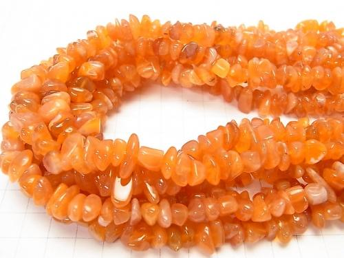 1strand $6.79! Botswana Orange Chalcedony AA ++ Chips (Small Nugget) 1strand (aprx.15inch / 38cm)