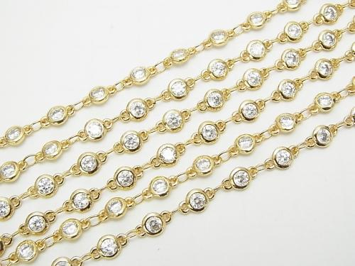 Metal Parts CZBrilliant Chain with Cut chain gold color 20cm $1.19!