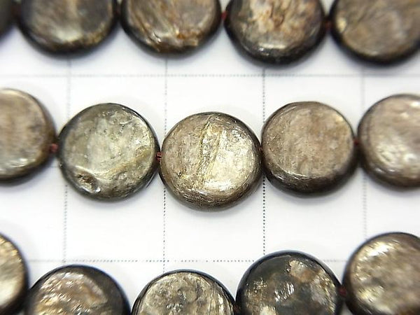 Moscovite  Coin 10x10x4mm half or 1strand (aprx.15inch/36cm)