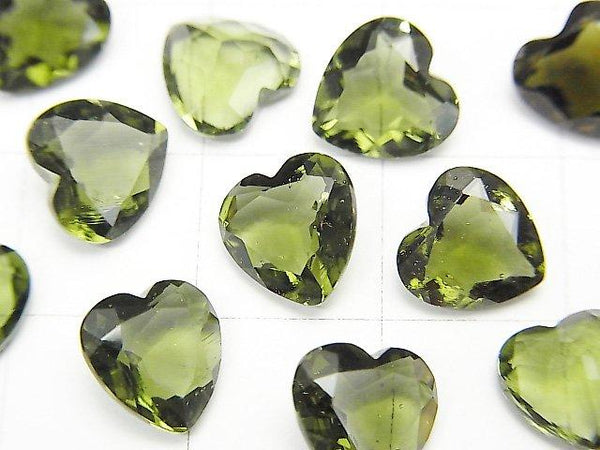 High Quality Moldavite AAA Heart Faceted 8 x 8 x 4 mm Undrilled 1 pc $24.99!
