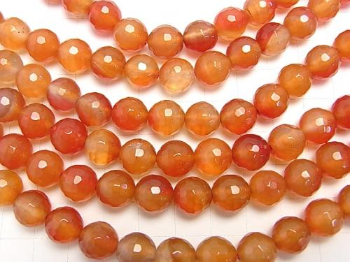 1strand $8.79! Mix Carnelian 128 Faceted Round 10 mm 1strand (aprx.15 inch / 38 cm)