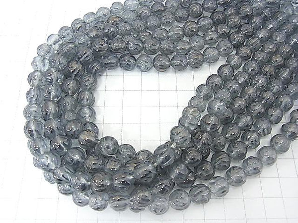 Silver Flash Crystal Round Rose Cut 10mm half or 1strand (aprx.15inch / 37cm)