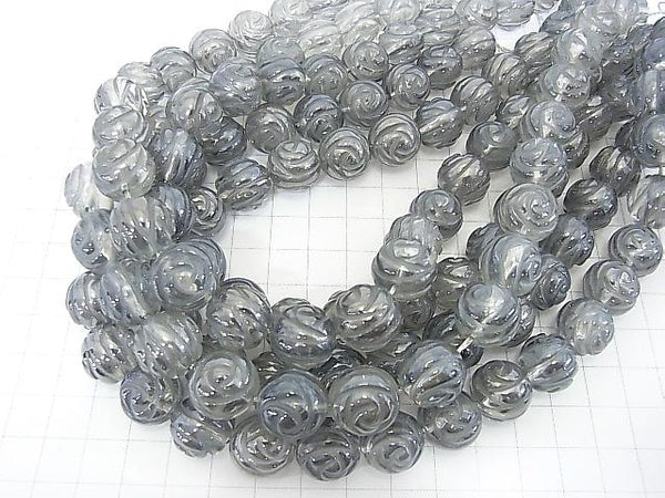 Silver Flash Crystal Round Rose Cut 14mm half or 1strand (aprx.15inch / 38cm)